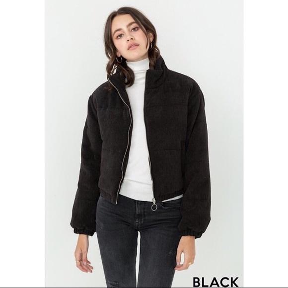 Amor Adore Jackets & Blazers - Corduroy Bomber Jacket